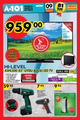 A101 9 Haziran - TV ve Elektronik Aktüel