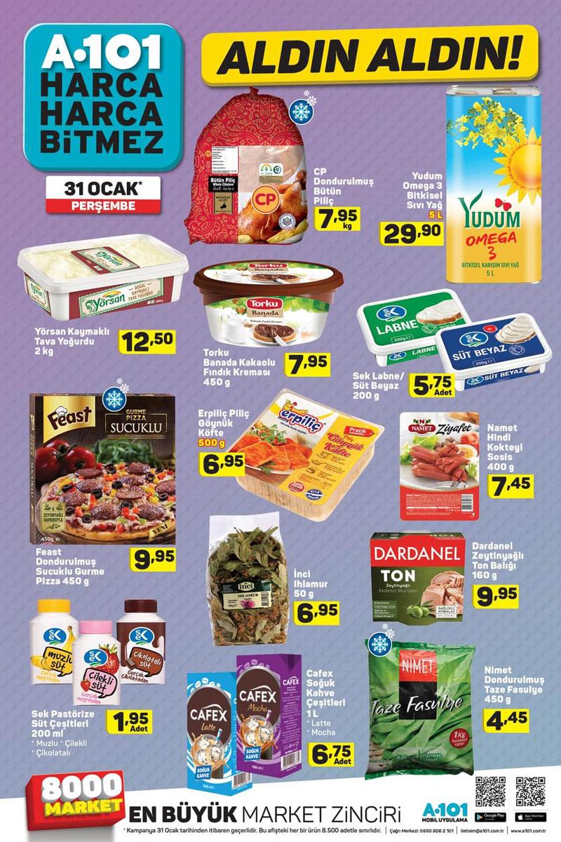 A101 Market 31 Ocak Aktüel Gıda ürün Fırsatları